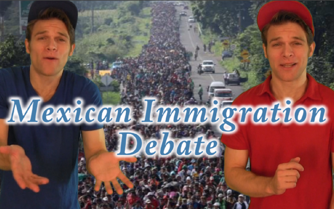 Mexican Immigration Debate!  Heated Battle