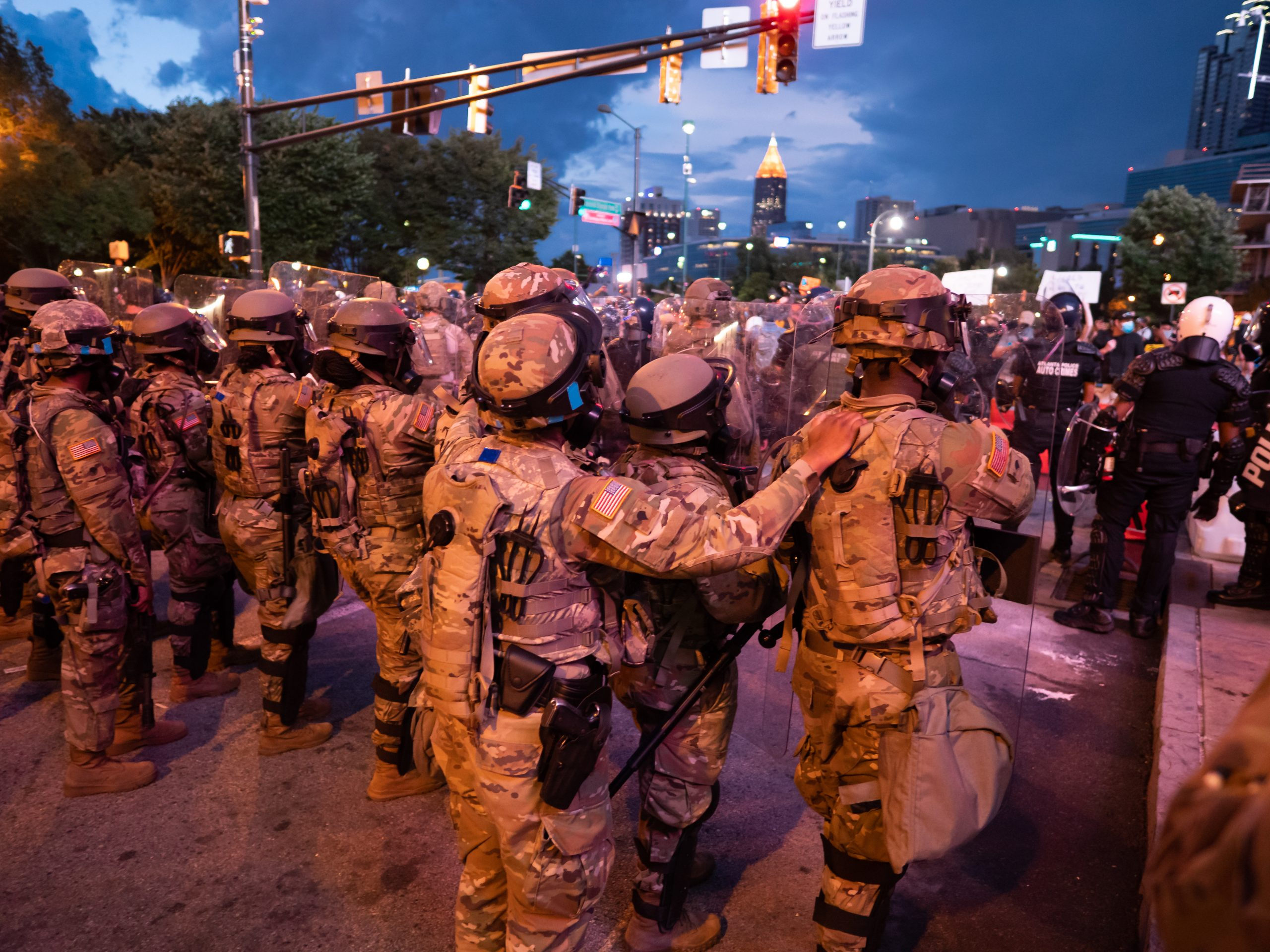 U.s. Airmen And Soldiers From The Georgia National Guard Assist Law Enforcement Agencies During Atlanta Protests