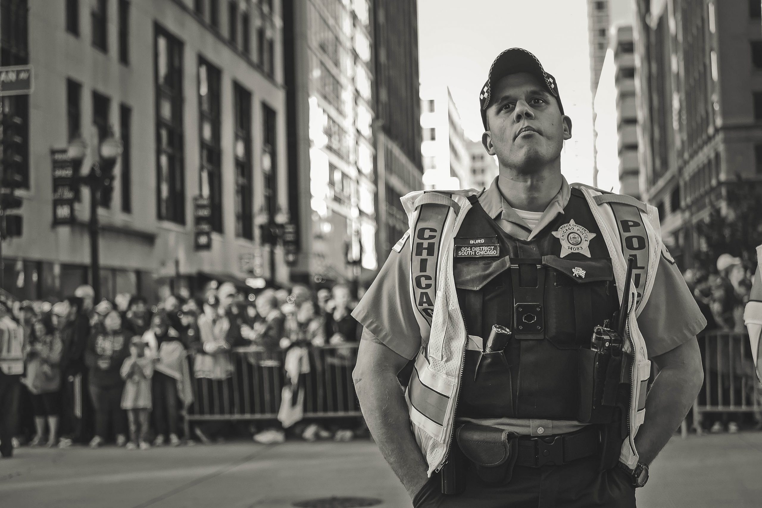 Grayscale Photo Of A Police 2442435