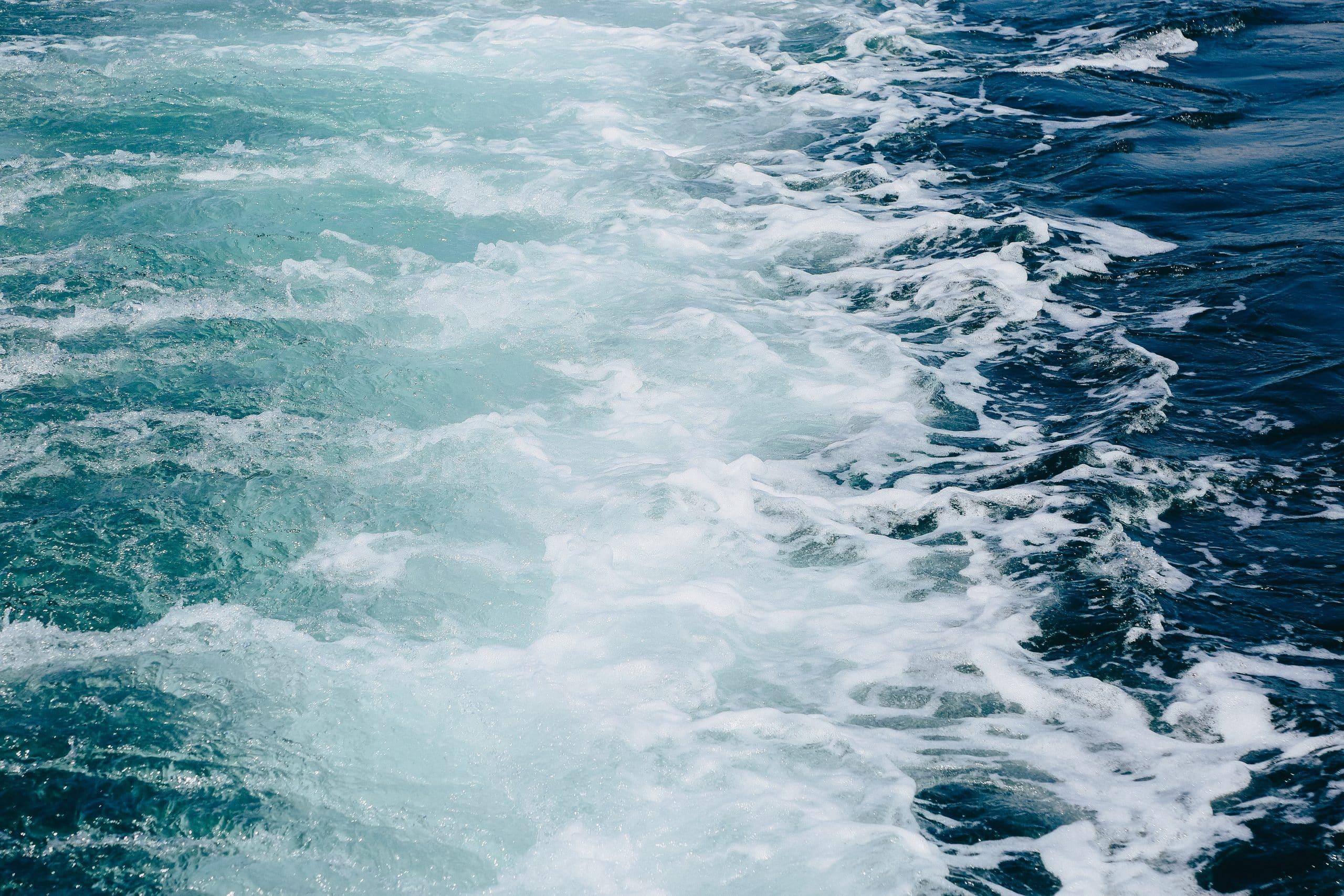 Waves Behind Cruise Ship Sailing On Sea 4407417