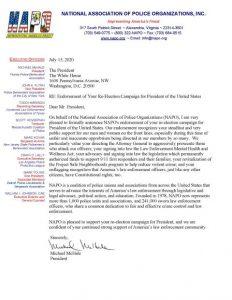 Napo Endorsement Ltr President Trump July 15 2020 1