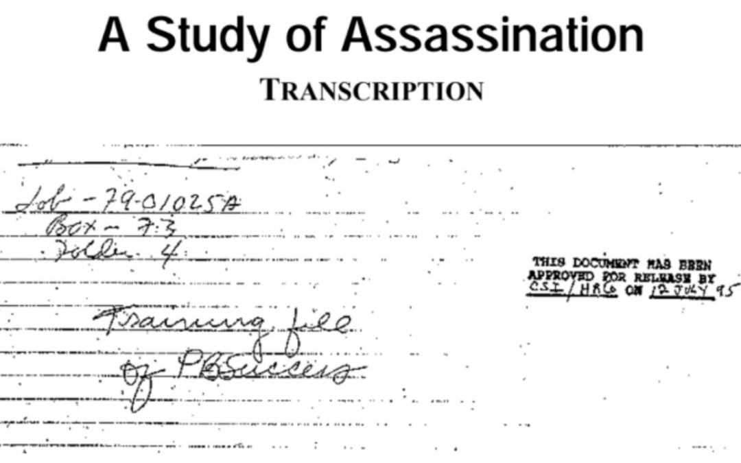 DECLASSIFIED: CIA Assassination Manual and Criminal History