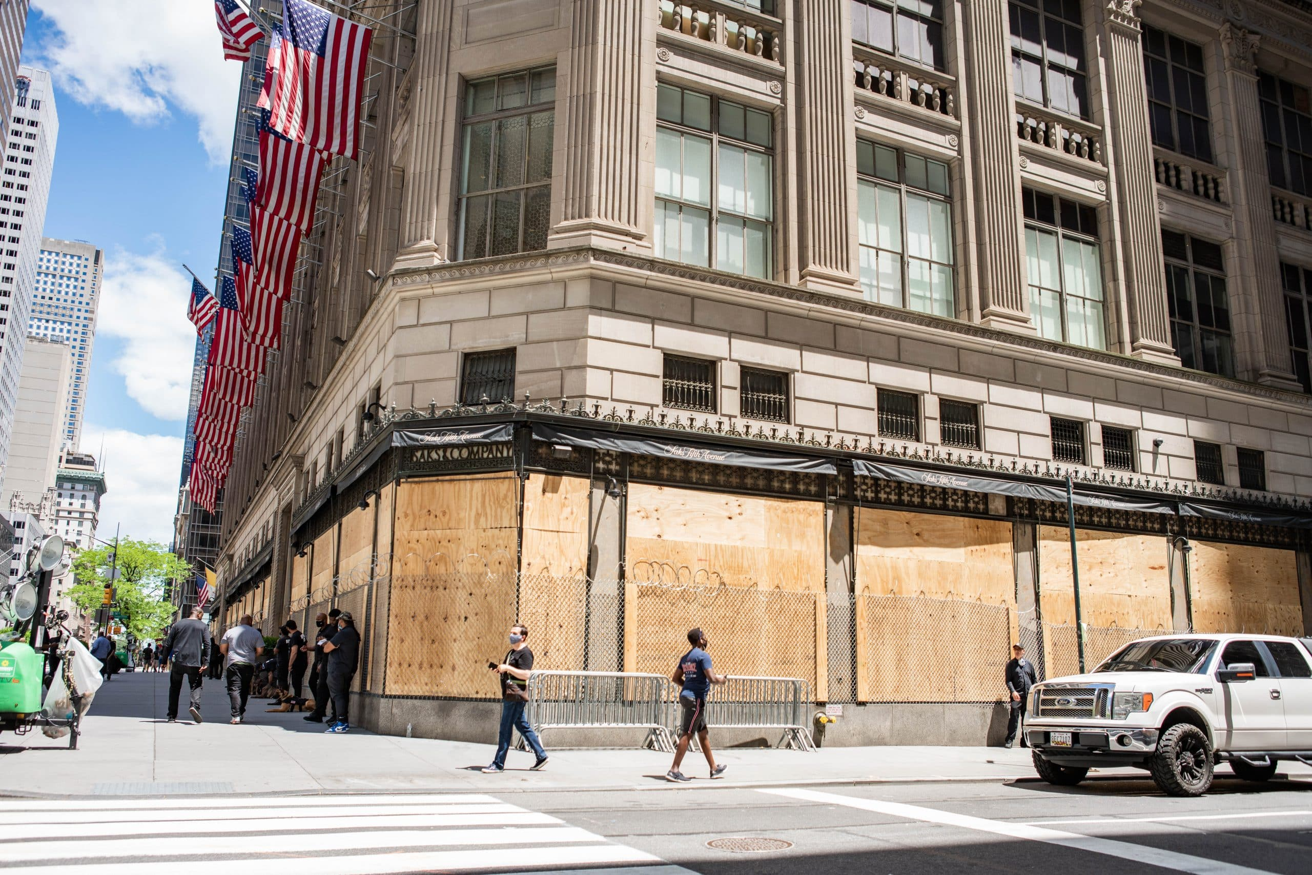 Saks Fifth Avenue Boarded Up During Black Lives Matter Protests New York City 49984780162