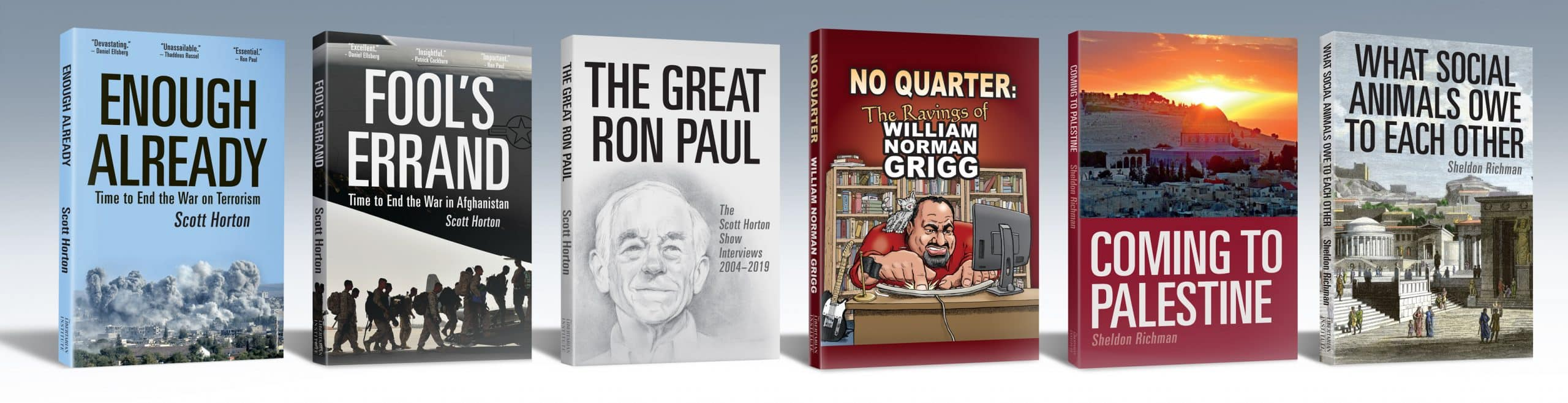 Shop books published by the Libertarian Institute.