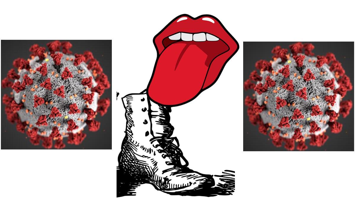 Bootlicking Illustration Jpb 2021 2 Virus Image