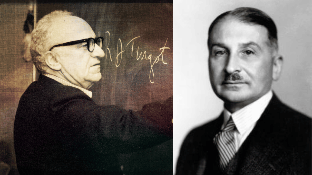 Mises and Rothbard side by side