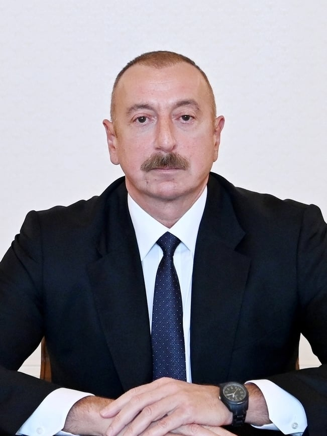 ilham aliyev was interviewed by euronews tv (cropped) (cropped)