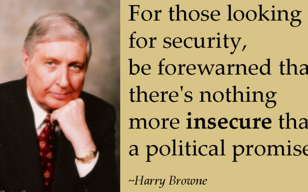 September 12th, 2001 – When Will We Learn? by Harry Browne