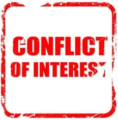 conflict of interest stamp
